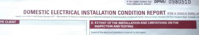 Electrical Installation Condition Report Edinburgh