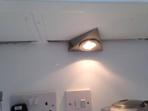 Bathroom light fitted