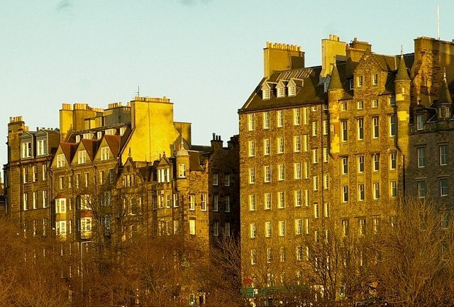 Common stair lighting in Edinburgh
