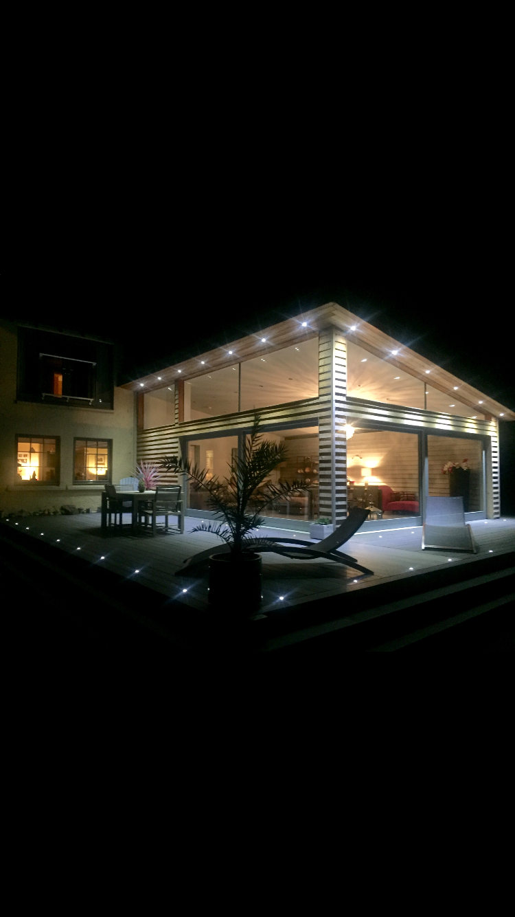 decking lighting and overhead exterior lighting for house
