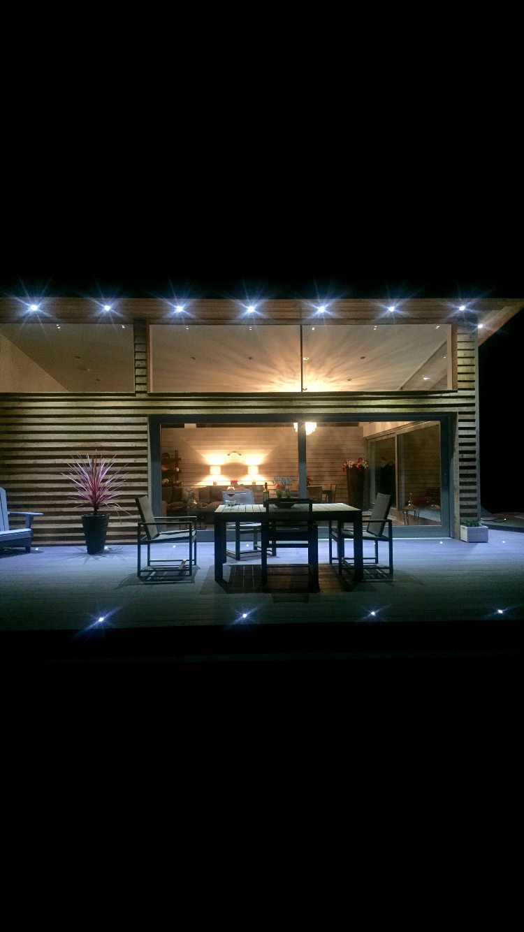 Stunning exterior LED lighting and decking lighting