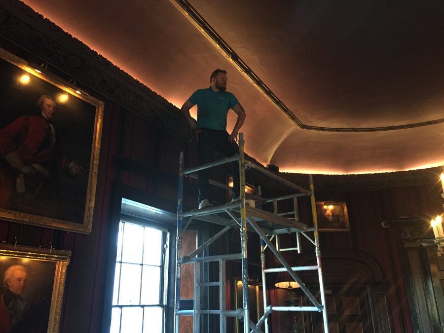 New lighting and rewiring in Prestonfield House Hotel Edinburgh