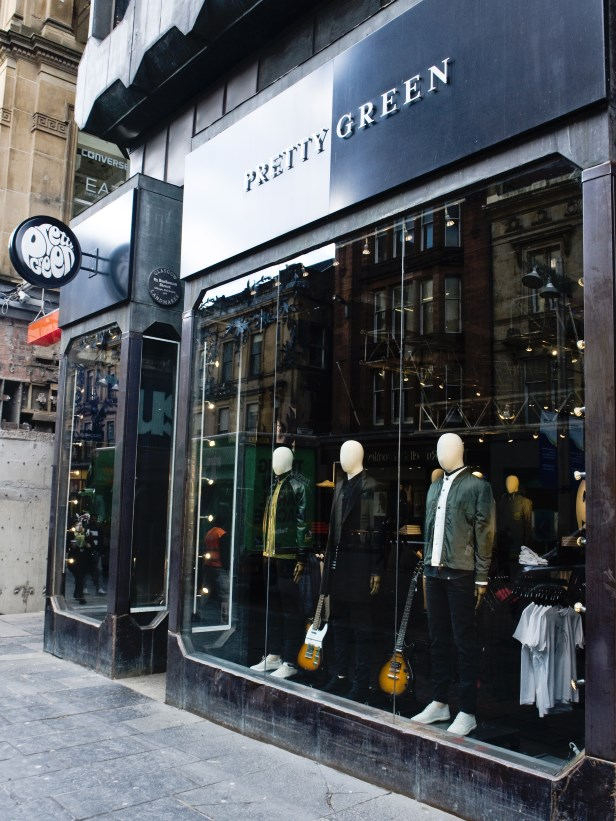 Pretty Green Buchanan St Glasgow after full rewire and light fitting