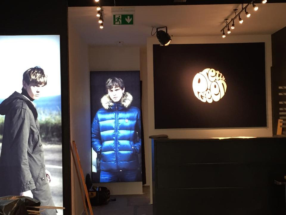New lighting installation in Pretty Green Edinburgh