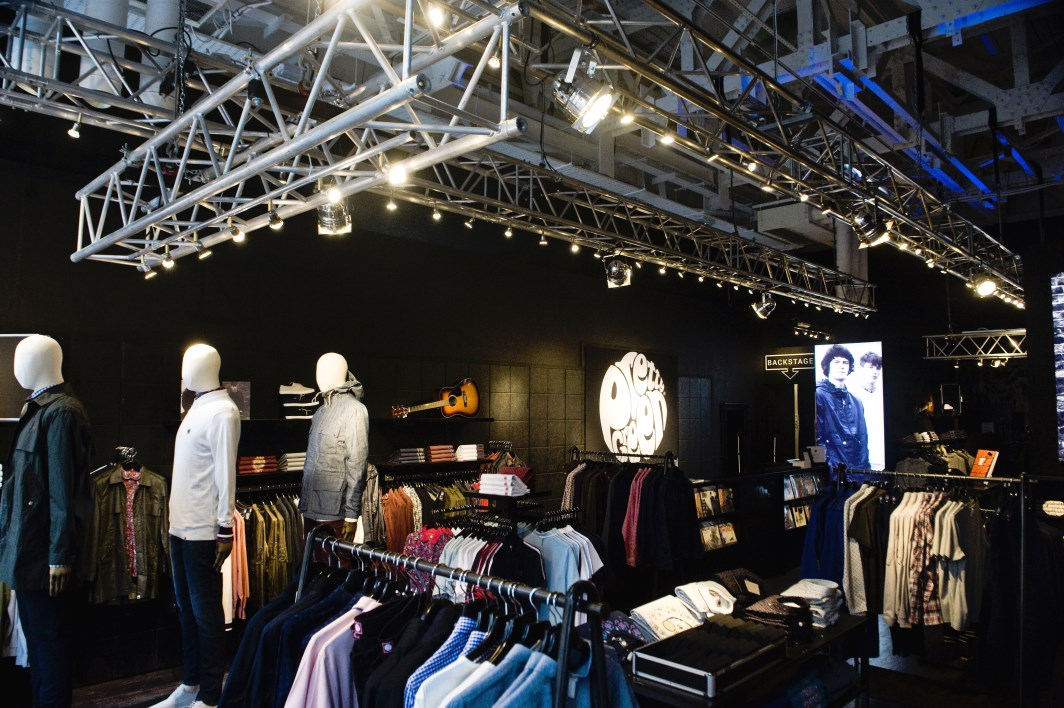 Pretty Green shop in Glasgow after electrical refit and full lighting installation